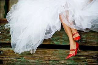 Coloured wedding shoes