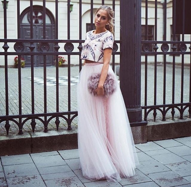 Falda de tul invitada de boda- Love Lovely