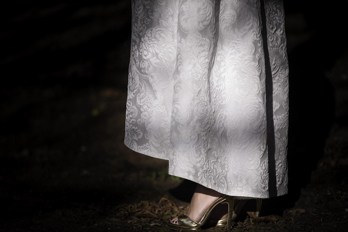 Zapatos de novia dorados-Love Lovely