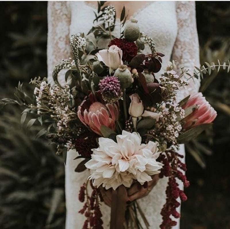 ramo de novia despeluchado