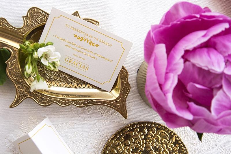 Tarjetas de agradecimiento para papelerías de bodas