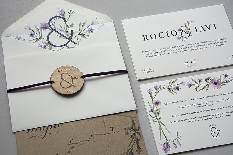 Papelerías de bodas bonitas con sellos personalizados
