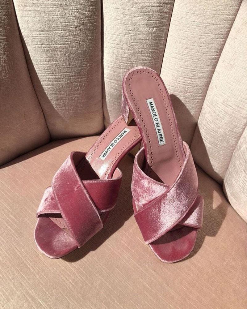 zapatos de raso rosa para novia