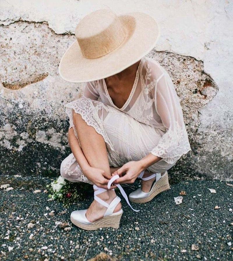 Zapatos de cuña para novia