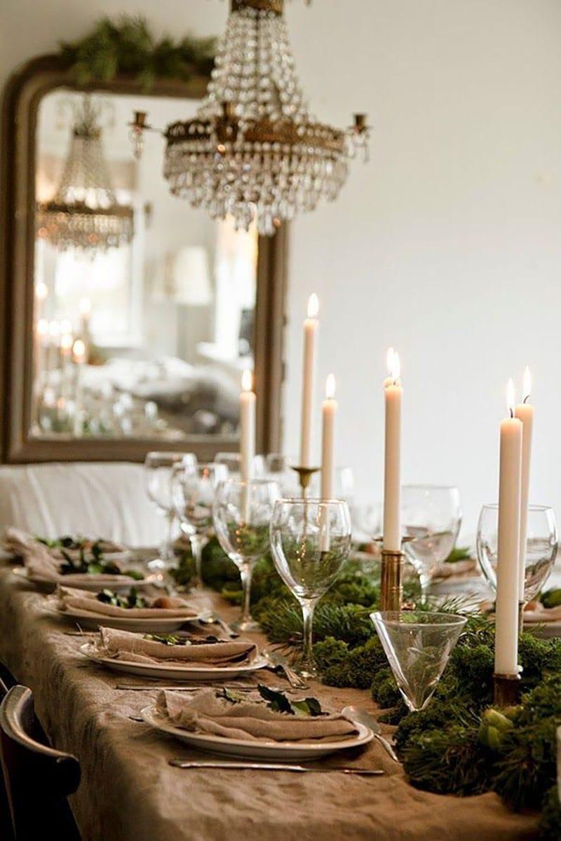 Decora la mesa esta navidad. Velas mesa