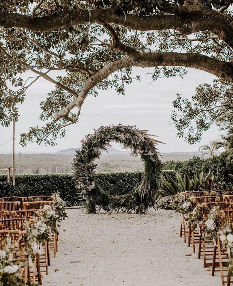 Tendencias deco bodas. Altar arco