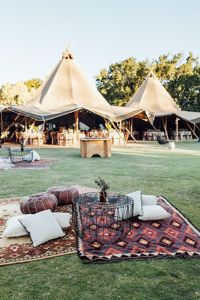 Tendencias deco bodas. Chill aout